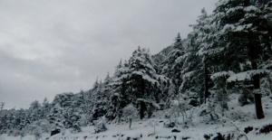 Alanya'ya Kar Yağdı