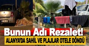 Alanya'da Sahil ve Plajlar Otele Döndü
