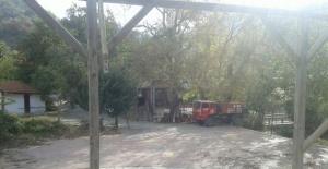 Alanya Sapadere'de Yangın Çıktı