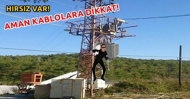 Hırsızlar Şimdi de Elektrik Tellerini Çalmaya Başladı