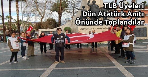 TLB Üyeleri Dün Anıt Önünde Toplandılar