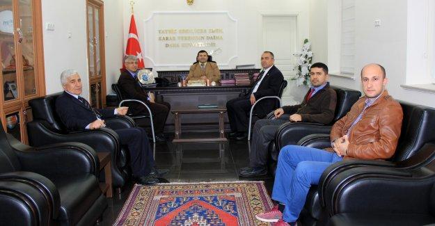 Türkiye Satranç Federasyonu Üyelerinden Kaymakam Tanrıseven'e Ziyaret
