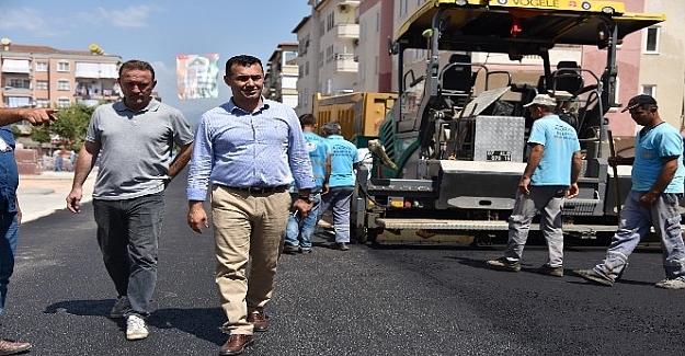Başkan Yücel Alaiye Caddesindeki Çalışmaları İnceledi