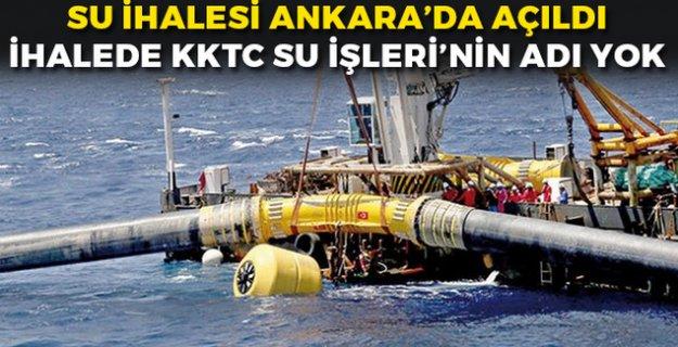 KKTC Su İhalesi Ankarada Açıklandı