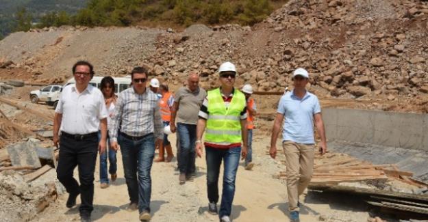 Alanya Yeniköy Baraj İnşaatını İncelediler