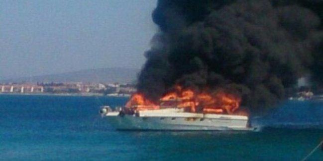 Erkan Petekkaya'nın Teknesinde Yangın Çıktı