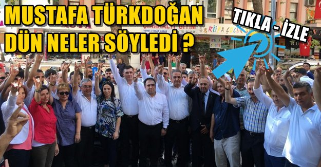 Mustafa Türkdoğan'ın Dünkü Konuşması