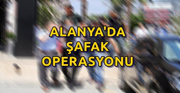 Alanya'da Azılı Suçlulara Şafak Operasyonu