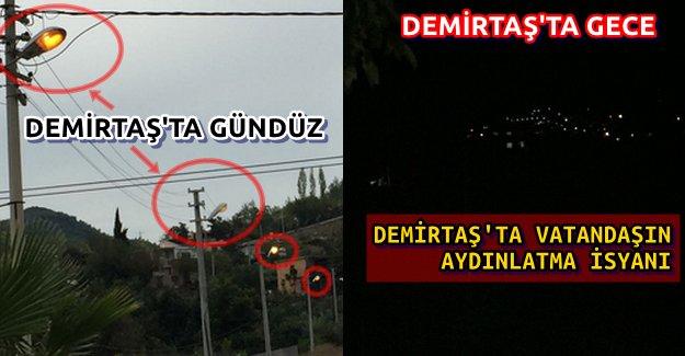 Alanya Demirtaş'ta Elektrik İsyanı