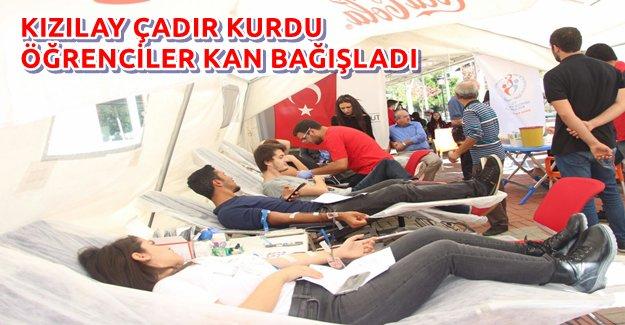 Kızılay ALKÜ'ye Çadır Kurdu