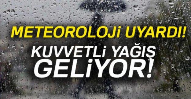 Meteoroloji 'den Antalya'ya sağanak yağmur uyarısı