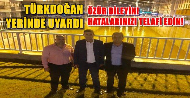 Türkdoğan, Özür Dilemeye Davet Etti