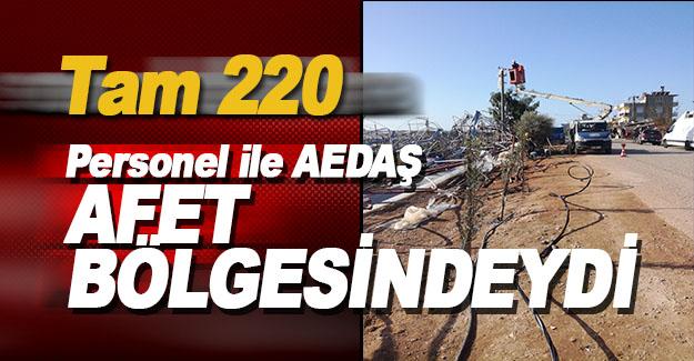 AEDAŞ, 220 Personeli ile Sahadaydı