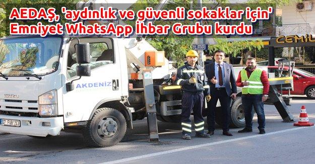 AEDAŞ, WhatsApp İhbar Grubu kurdu