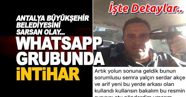 Belediyenin Whatsapp grubuna bu fotoğrafı gönderip intihar etti