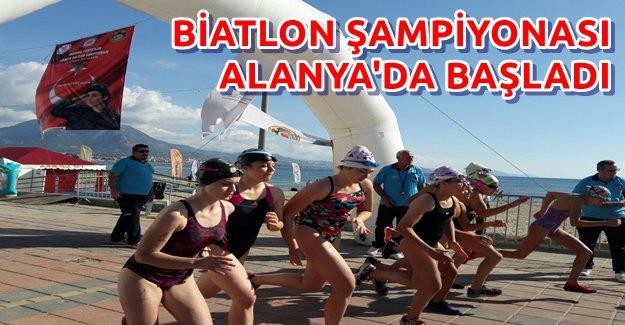 Biatlon Şampiyonası Alanya'dan Start Aldı