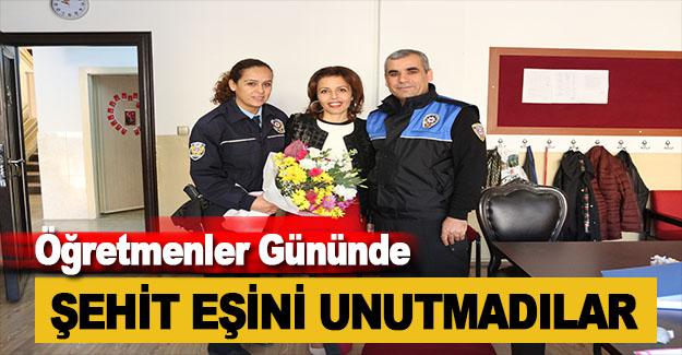 Polis, Şehit Eşi Öğretmeni Unutmadı