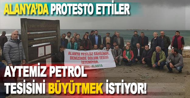 Alanya'da Aytemiz Petrol'ü Protesto Ettiler