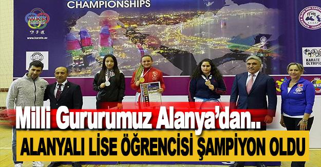 Alanyalı Lise Öğrencisi Şampiyon Oldu