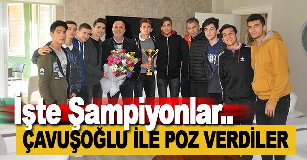 Çavuşoğlu, Yenilgisiz Şampiyonları Ağırladı