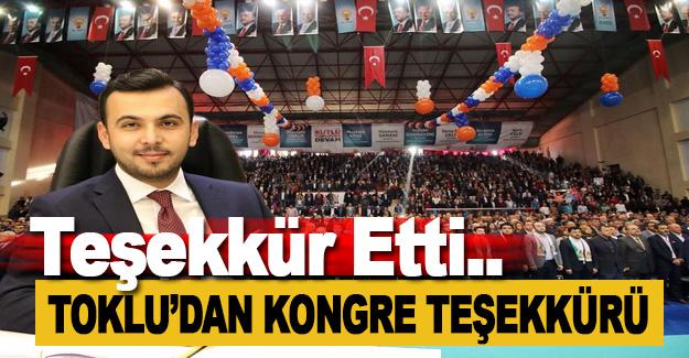 Mustafa Toklu'dan Kongre Teşekkürü