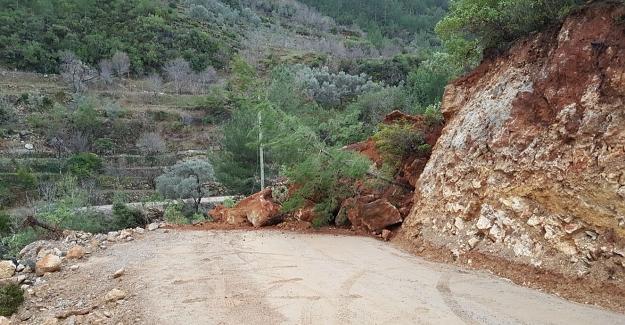 Alanya'da Heyelan nedeniyle kapanan Süleymanlar Yolu açıldı