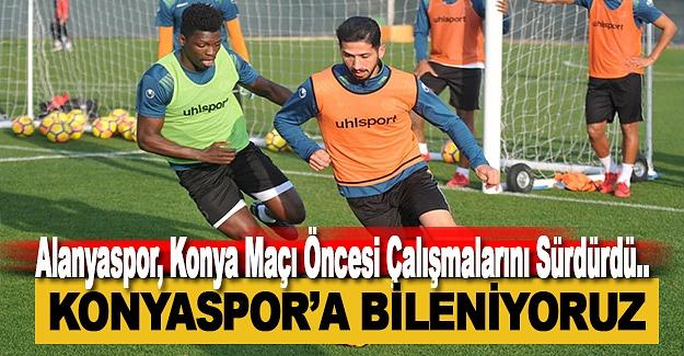 Alanyaspor, Konya Maçı Öncesi Çalışmalarını Sürdürdü