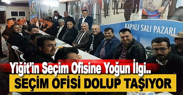 Yiğit'in Seçim Ofisine Yoğun İlgi