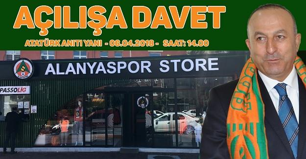 Alanyaspor Store açılışına davet