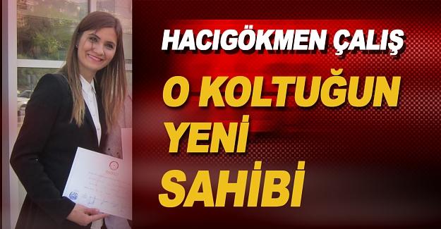 Boşalan meclis üyeliği koltuğuna 16.Sıra meclis üyesi olan Emine HACIGÖKMEN ÇALIŞ geliyor.