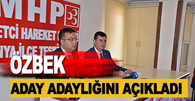 Özbek MHP'den Aday Adaylığını Açıkladı