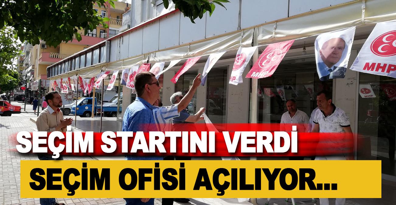 MHP Alanya İlçe Başkanı Mustafa TÜRKDOĞAN seçim startını verdi.