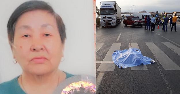 Kamyonetin Çarptığı Rus Kadın turist Öldü