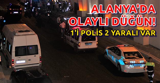 Alanya'da Düğünde 2 Kişi Yaralandı