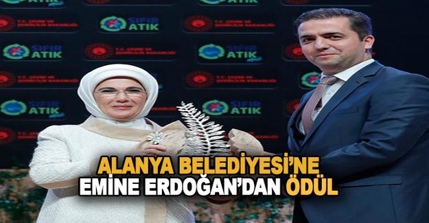Alanya Belediyesi Emine Erdoğan'dan Ödül Aldı