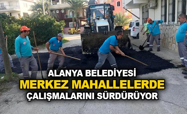 Alanya Belediyesi mahallelerde çalışmalarını sürdürüyor