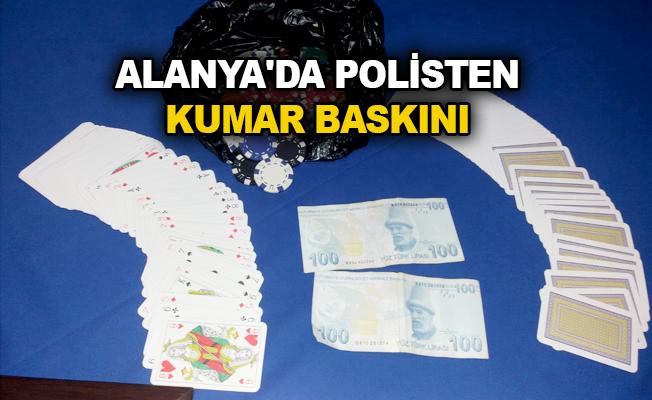 Alanya'da Polisten Kumar Baskını