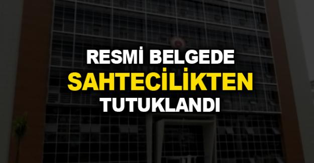 Alanya'da Resmi Belgede Sahtecilikten Tutuklandı