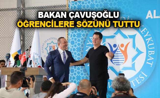 Bakan Çavuşoğlu öğrencilere sözünü tuttu