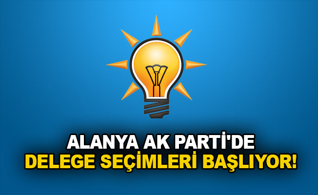 Alanya AK Parti'de delege seçimleri başlıyor