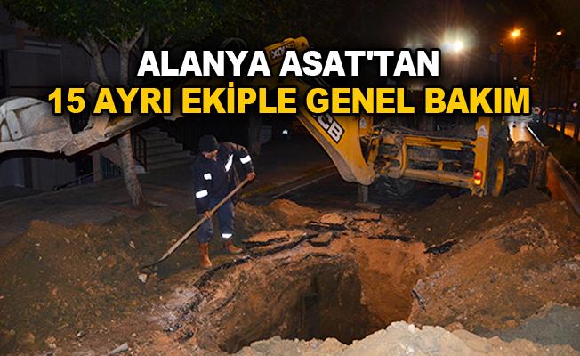 Alanya ASAT'tan 15 ayrı ekiple genel bakım