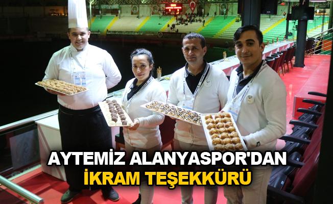Aytemiz Alanyaspor'dan ikram teşekkürü