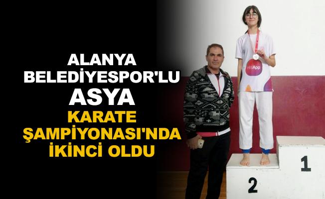 Alanya Belediyespor'lu Asya, Karate Şampiyonası'nda ikinci oldu