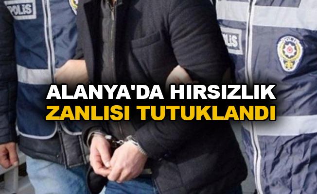 Alanya'da hırsızlık zanlısı tutuklandı
