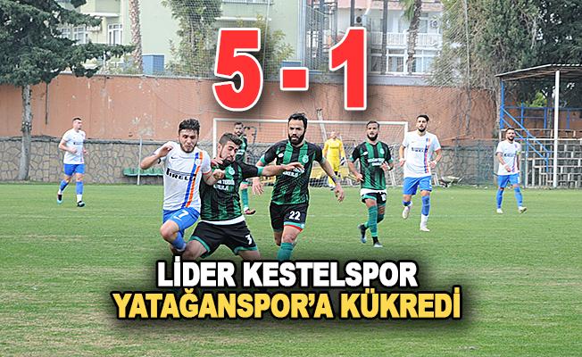 Lider Kestelspor Yatağanspor'a kükredi 5-1