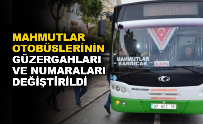 Mahmutlar otobüslerinin güzergahları ve numaraları değiştirildi