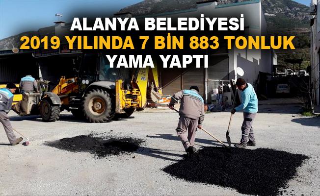 Alanya Belediyesi 2019 yılında 7 bin 883 tonluk yama yaptı