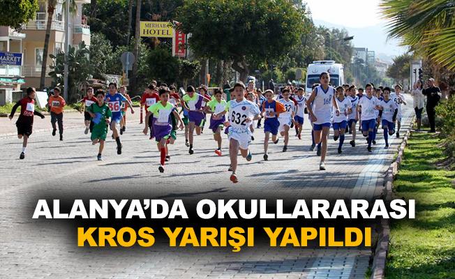 Alanya'da okullararası kros yarışı yapıldı