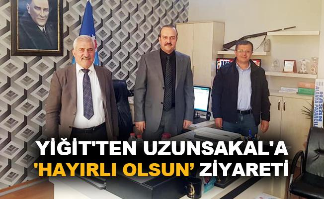 Yiğit'tenUzunsakal'a 'hayırlı olsun' ziyareti
