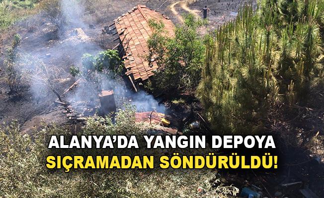 Alanya'da yangın depoya sıçramadan söndürüldü